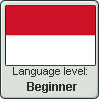Indonesian Language Level: Beginner by JMCV29