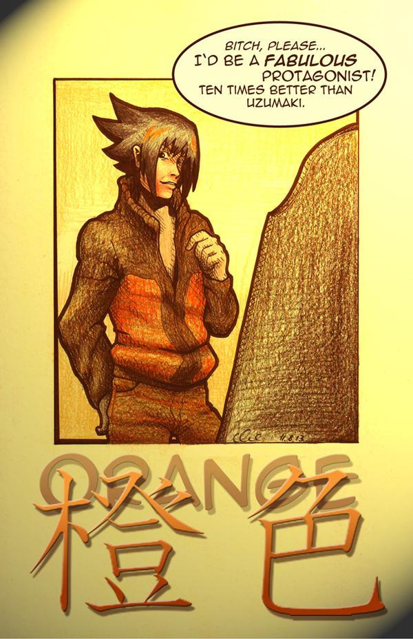Sasuke ORANGE (alternative) by nackmu