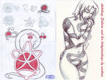 Sakura and her body painting SKETCH