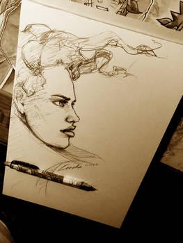 Leesha Papermaker sketch