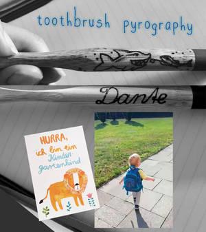 toothbrush pyrography