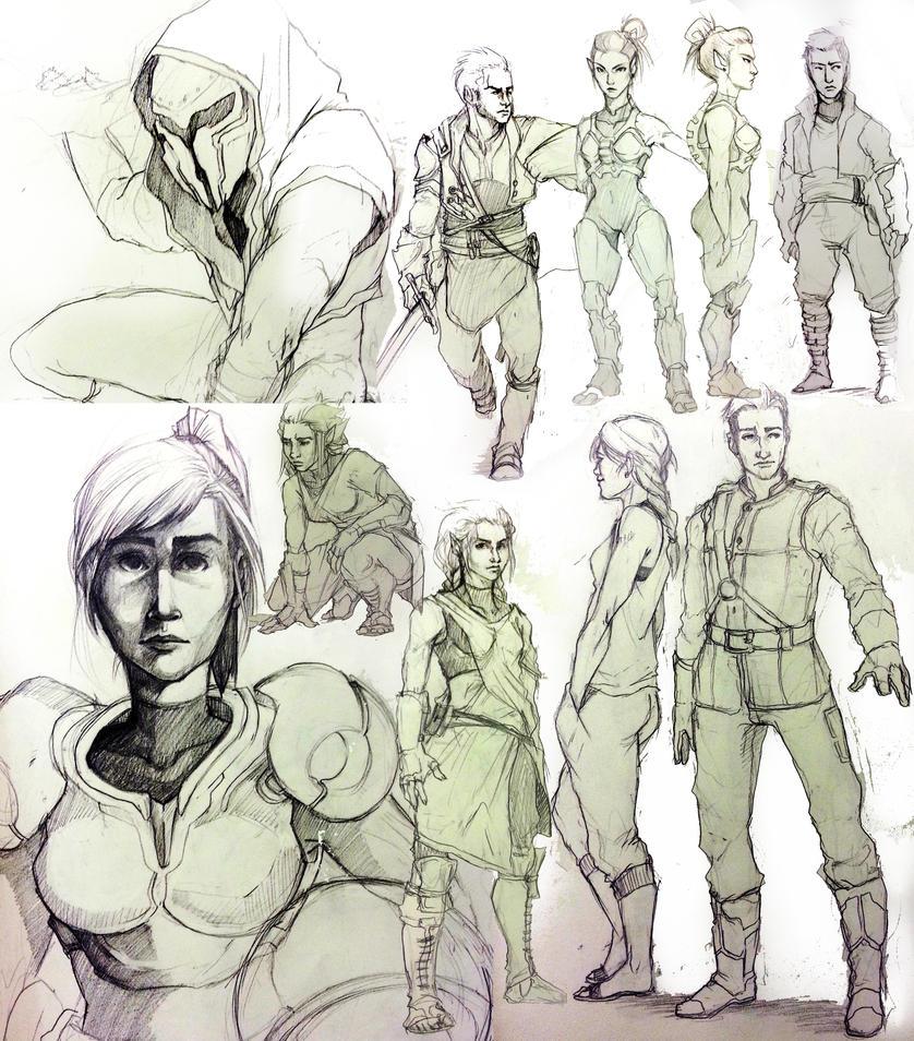 Sketchbook Characters by digitalyear
