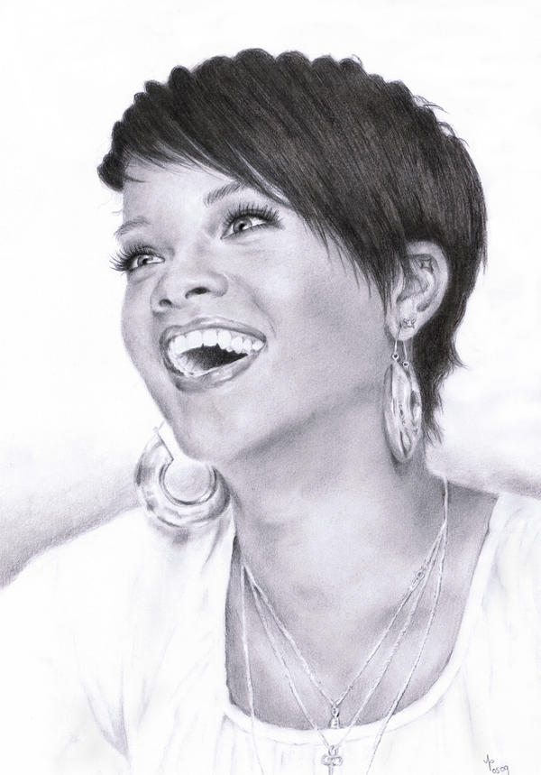 Rihanna - portrait by Tez-zah
