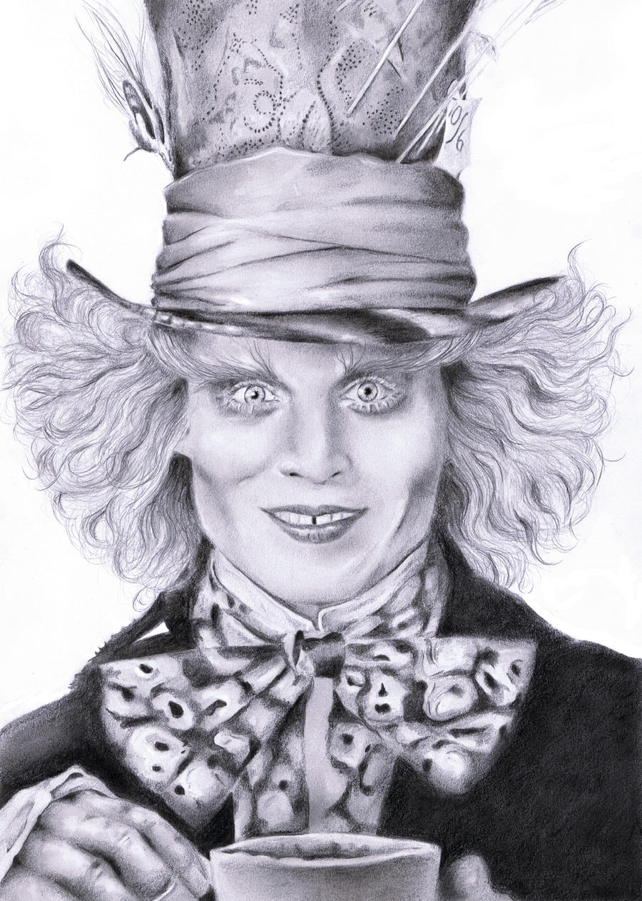 Johnny Depp Mad Hatter Drawing Mad Hatter - Johnny Depp by