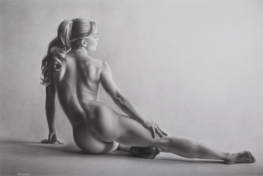 speed drawing figure study by 8DFineArt