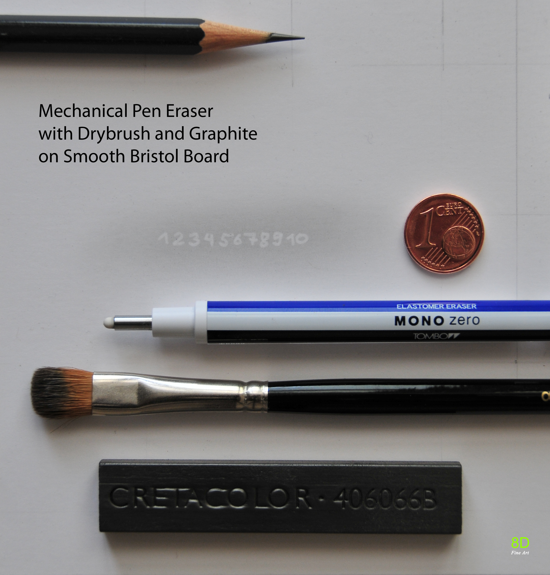 Drybrush mechanical pen eraser by 8dfineart