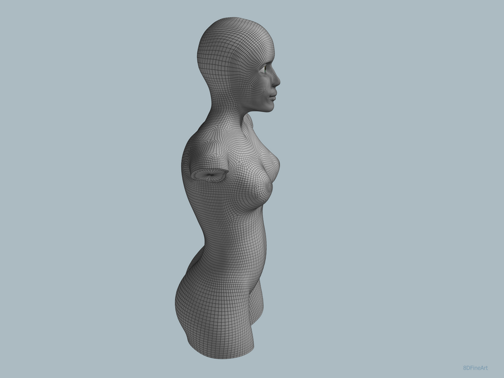 Sculpture, Mesh Retopology by 8DFineArt