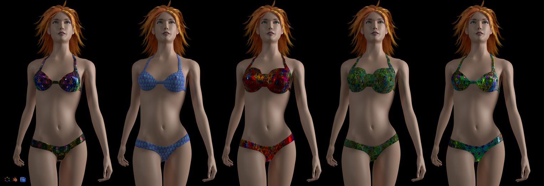 Figure Modelling Swimsuit by 8DFineArt