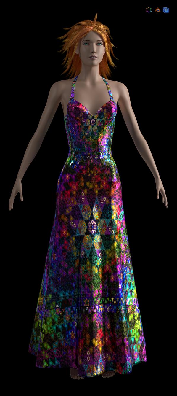 Figure Modelling Dress by 8DFineArt