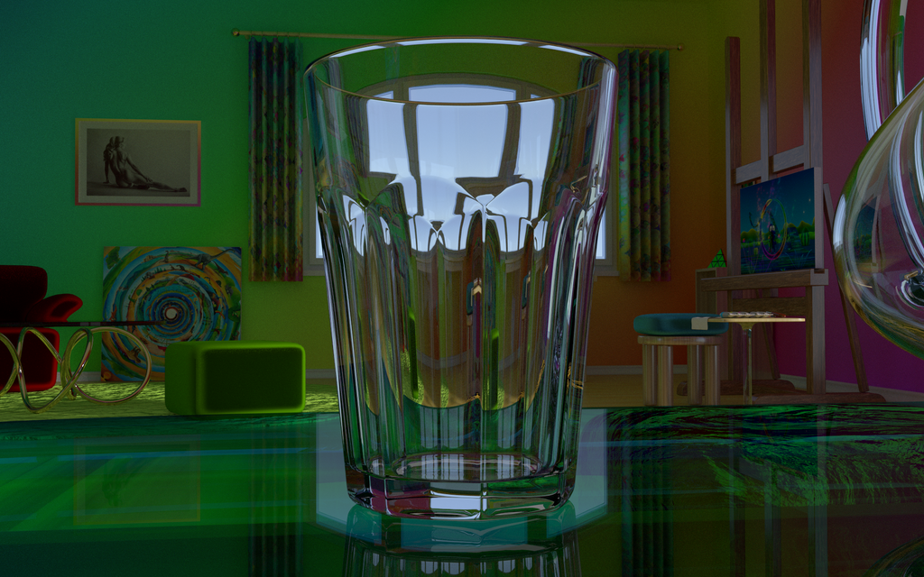 Empty Glass by 8DFineArt