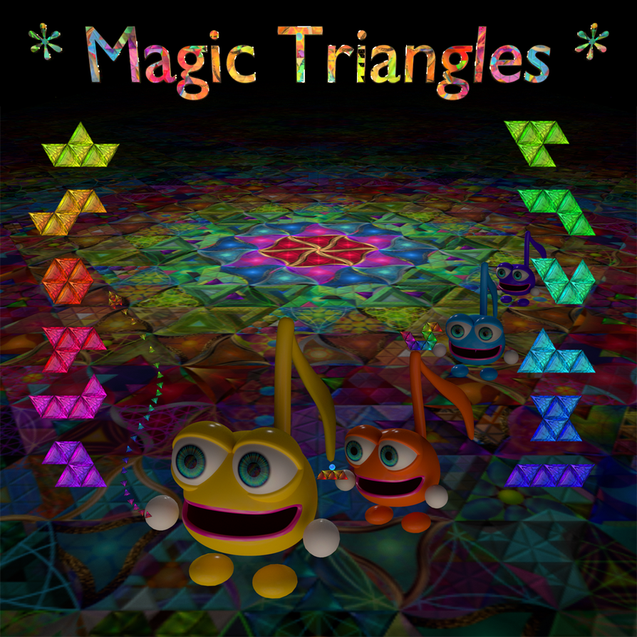 Magic Triangles Game, Box Art by 8DFineArt
