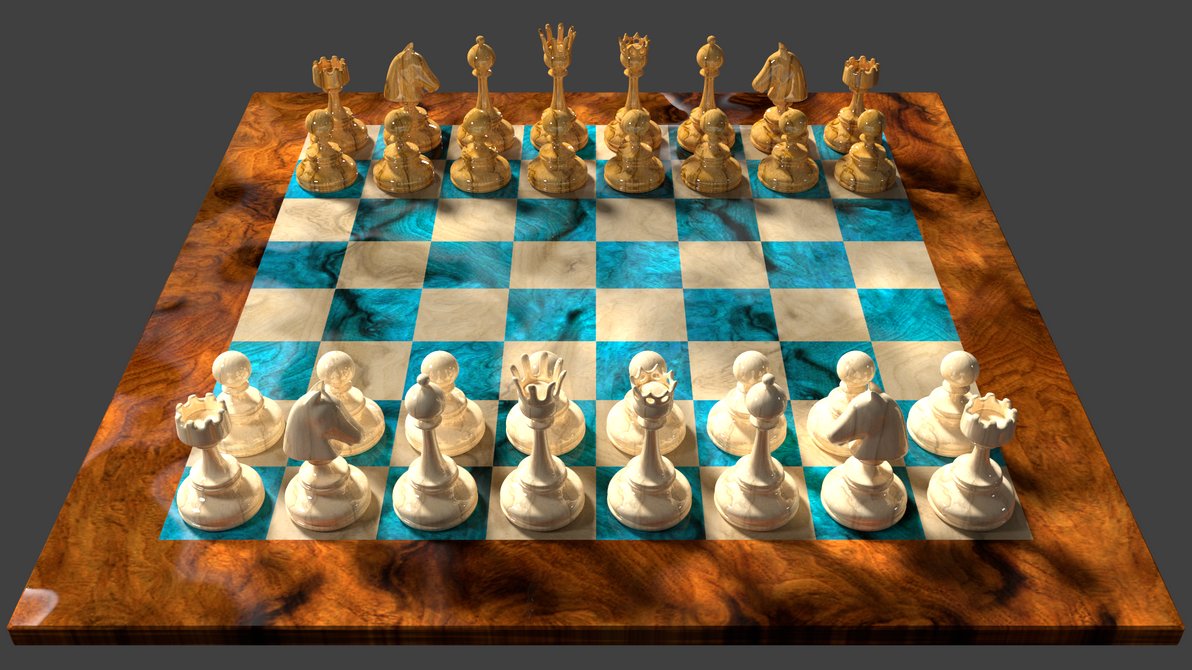 Great 3d Chess Board Design, White Player View By 8DFineArt ...