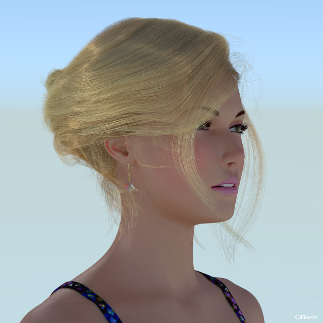 3d character wip oc by 8DFineArt