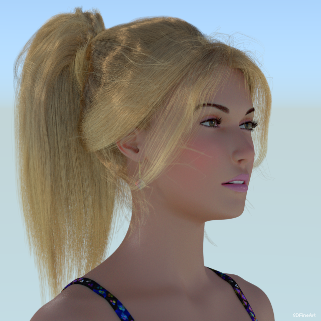 3d character wip oc hairstyle long by 8DFineArt