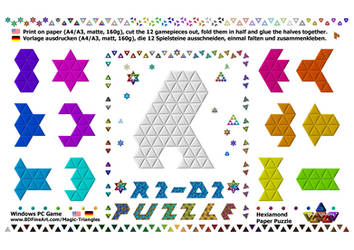 Magic-Triangles Paper-Hexiamond-Gamepieces-10a by 8DFineArt
