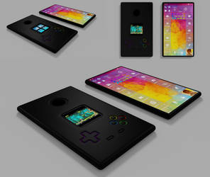 Surface Phone with Selfiescreen,Gamecontroler Case by 8DFineArt