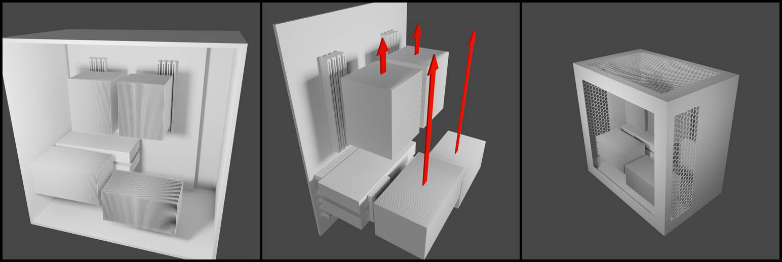 Fanless SLI PC Design Concept by 8DFineArt