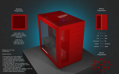 Fanless SLI PC Case Design Features by 8DFineArt