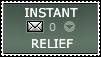 Stamp: Instant Relief by freak4zelda