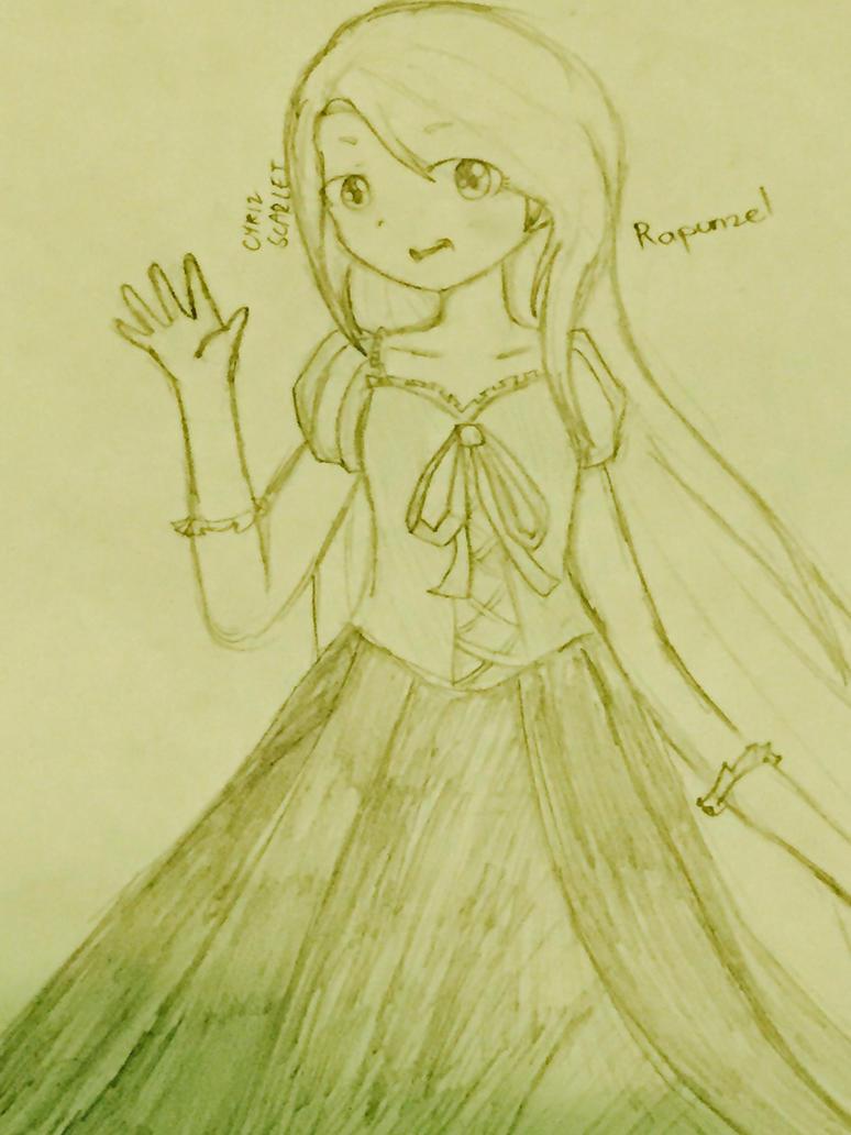 Rapunzel Anime by CyrizScarlet