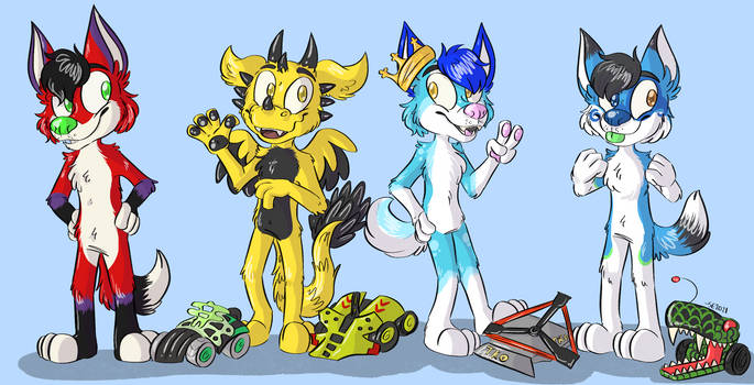 [commission] Furries and Battlebots