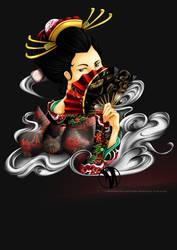 Geisha Illustation by meronheddo