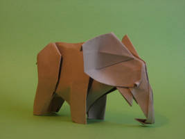 Origami Elephant by GEN-H