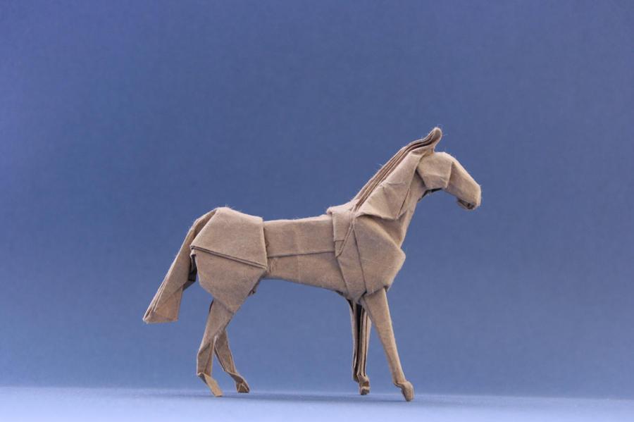Origami Horse Standing By GEN H On DeviantArt