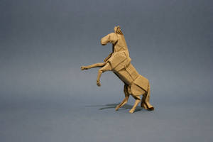 Origami Horse 'neighing' by GEN-H