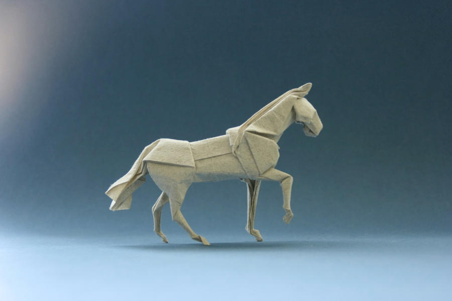 "Origami Horse ""walking""ver.2 by GEN-H"