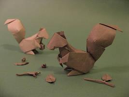 Origami Squirrel by GEN-H