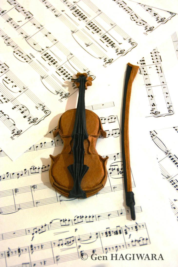 Origami Violin By GEN H