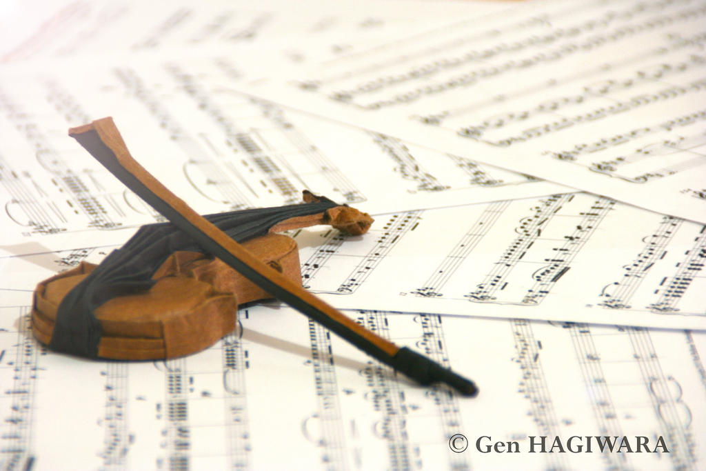 origami violin by genh on deviantart