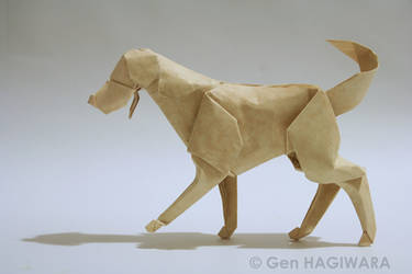 Origami Labrador Retriever by GEN-H