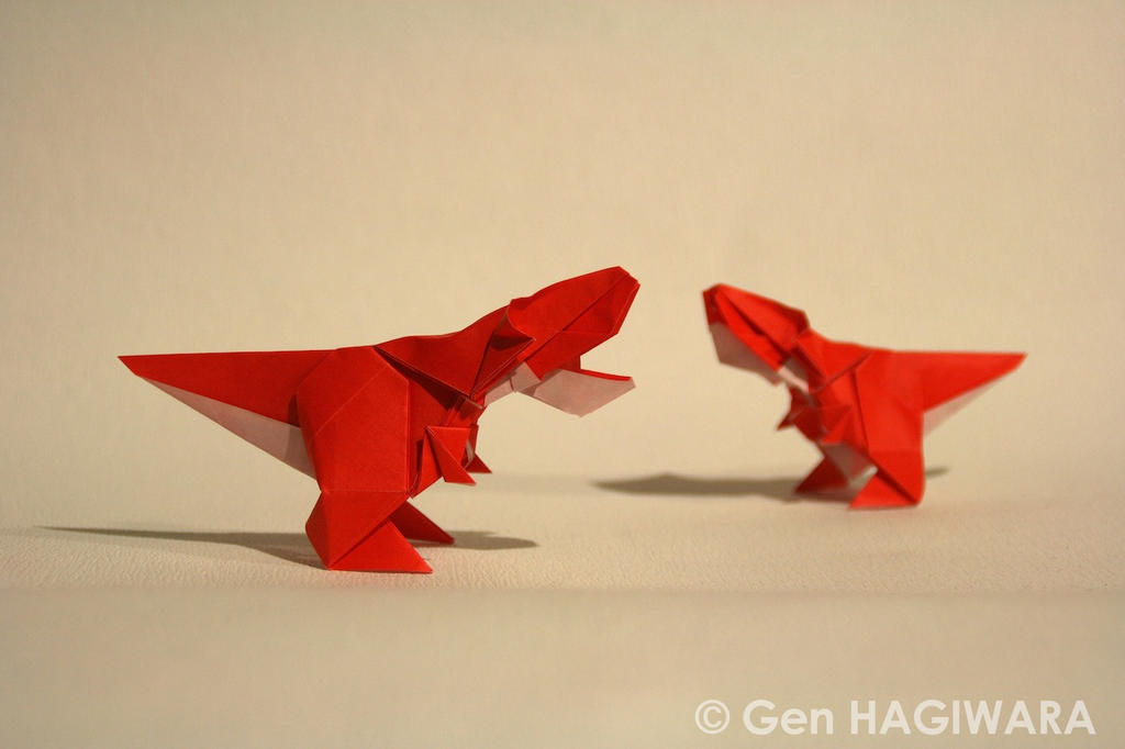 Origami Young T-Rex by GEN-H
