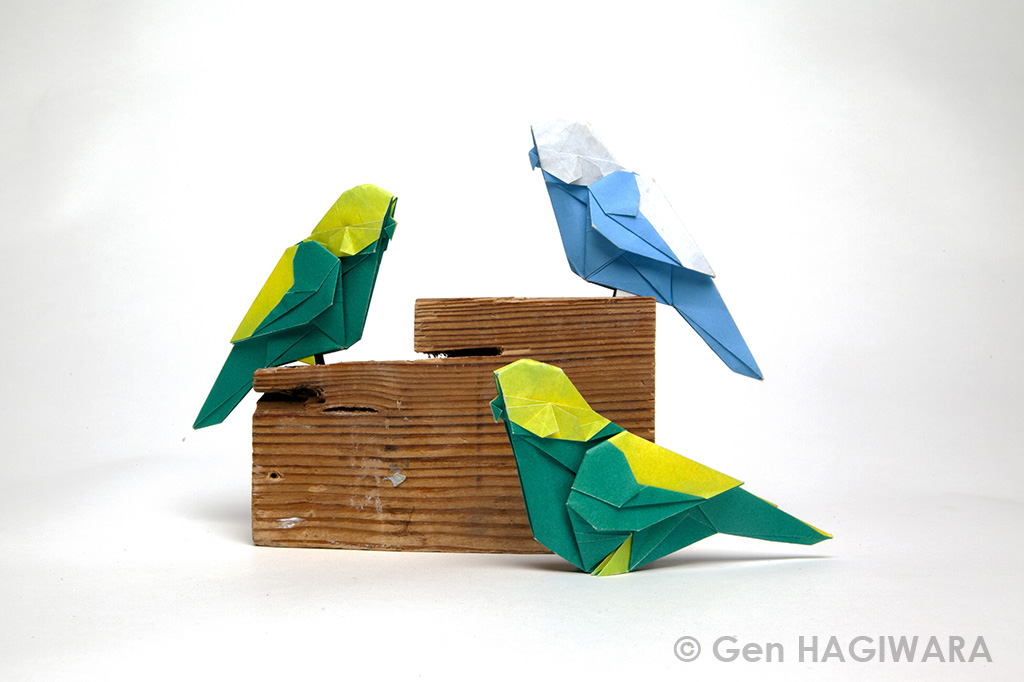 Origami Budgies by GEN-H