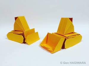 Origami Bulldozer and Drott