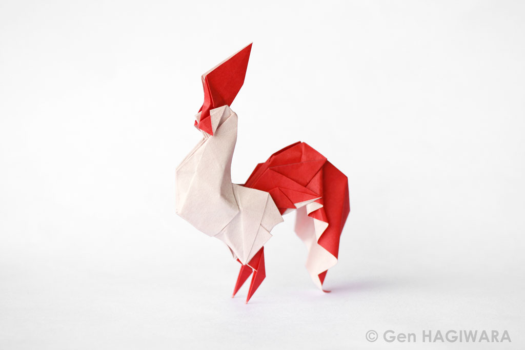 Origami Rooster by GEN-H