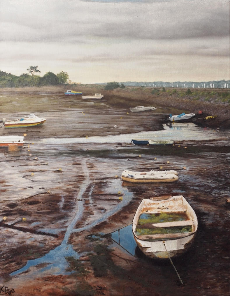 Boats at Cockwood by kaelby