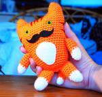 Ginger Mr Moustache Cat Amigurumi Plush