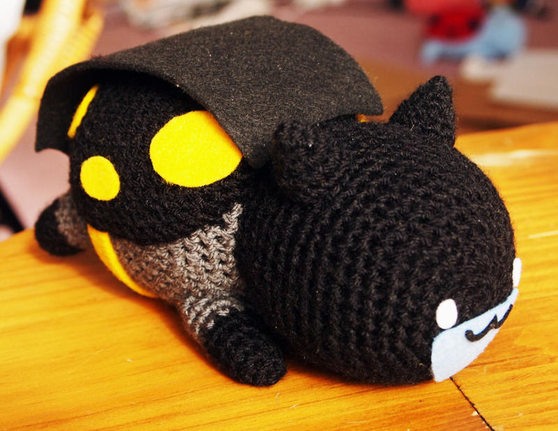 Batcatbugman! Amigurumi Catbug in Batman Costume by kaelby