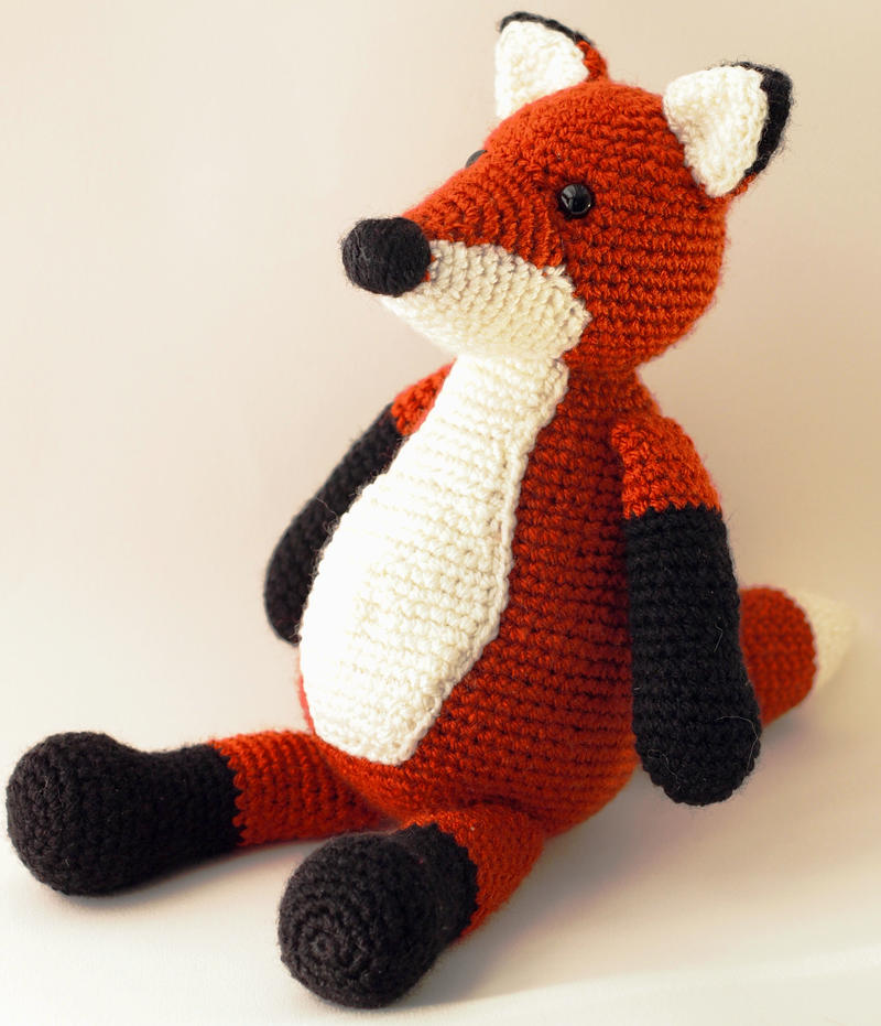 Cute Red Fox Amigurumi Crocheted Plushie by kaelby