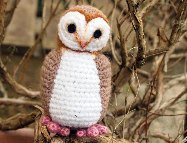 Cute Little Amigurumi Owl : Cute little crocheted barn owl by kaelby on deviantart