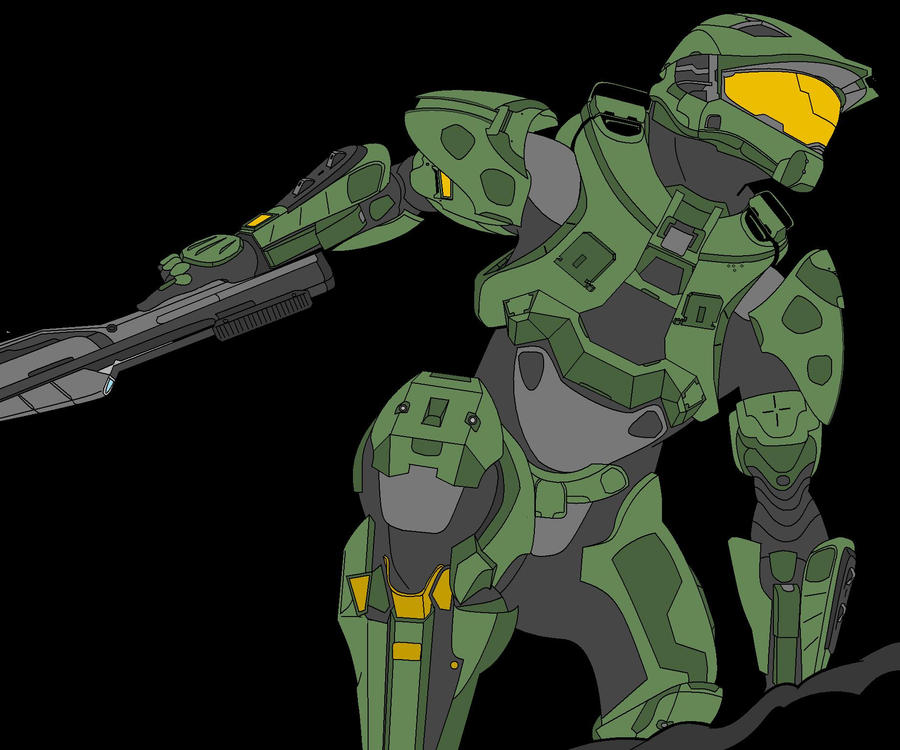 Master Chief colored by oreckk