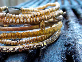 Gold Bangles 1 by snmsoomro