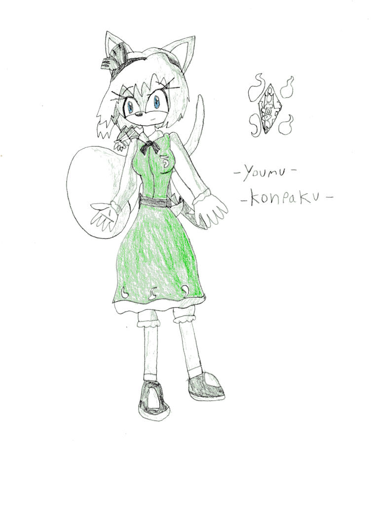Youmu Konpaku the Hedgehog by DisturbedToxicReapa