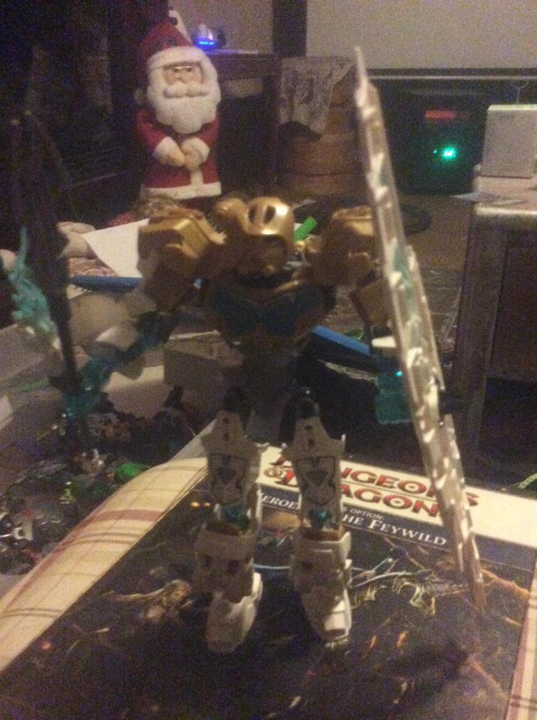 Kopaka Master of Ice - Golden Mask of Ice by DisturbedToxicReapa