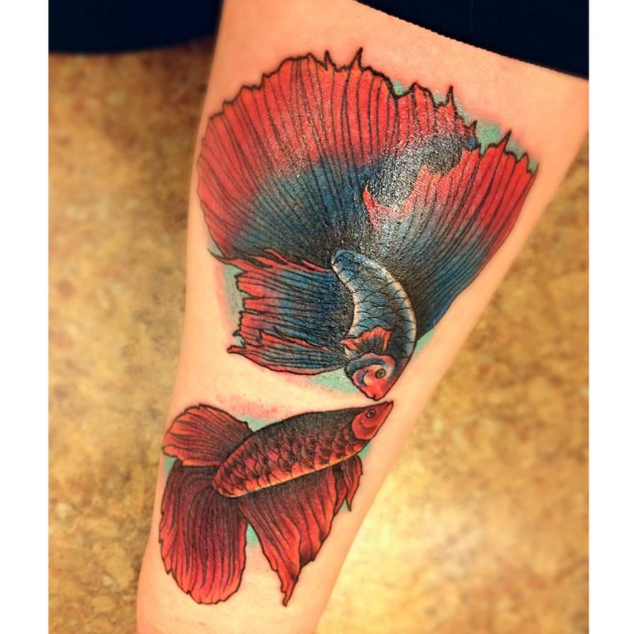 Betta Fish Tattoo By Carn1fex On Deviantart
