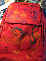 Designed dragon backpack  by Nevarra13