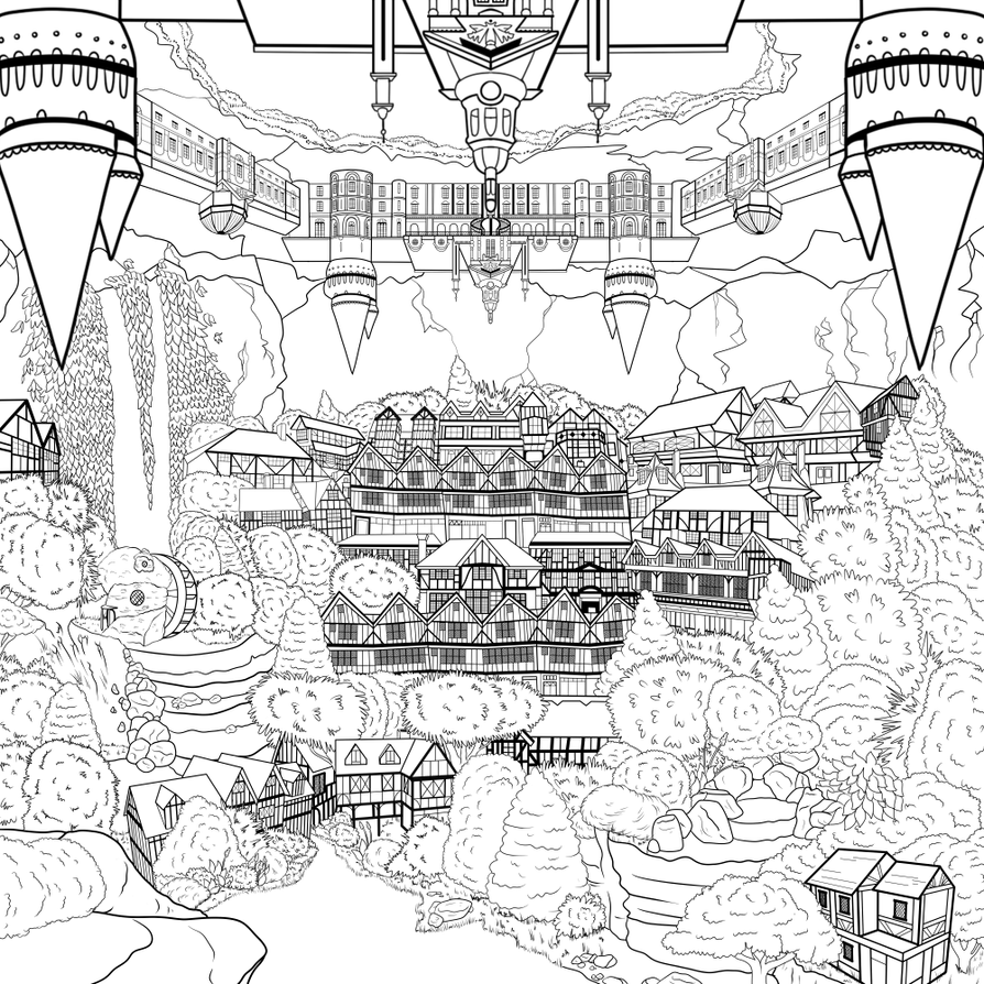 Capital City of Terrasu - WIP by fokkusu1991
